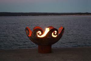 Artist John T Unger Scultural Fire Bowls