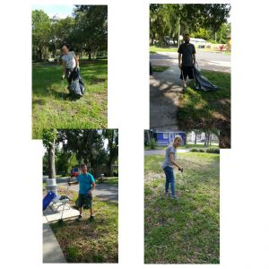 the first Plaza Park Clean-up done by We Create!
